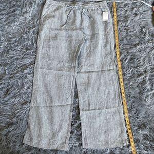 🧡 Linen Drawstring WideLeg Pant XL